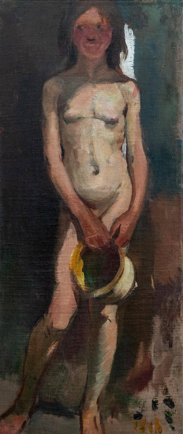 naked girl with jug